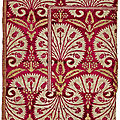 Sections from an ottoman voided velvet and metal thread (çatma) panel, turkey, bursa or istanbul, early 17th century