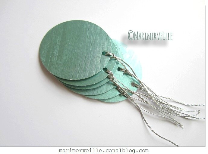 Boules de papier émeraude irisé - marimerveille