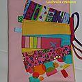 Protège carnet de santé housse fille rose jaune coloré
