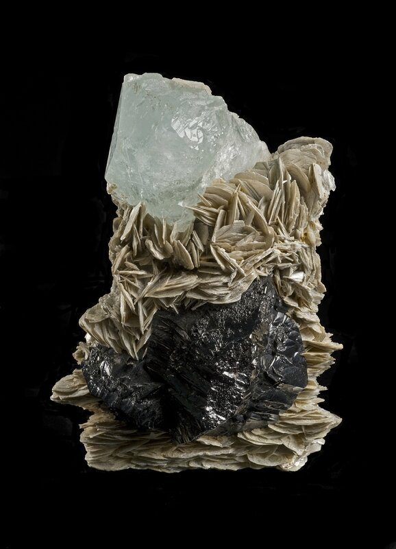 5_Aquamarine and Cassiterite on Muscovite - Copy