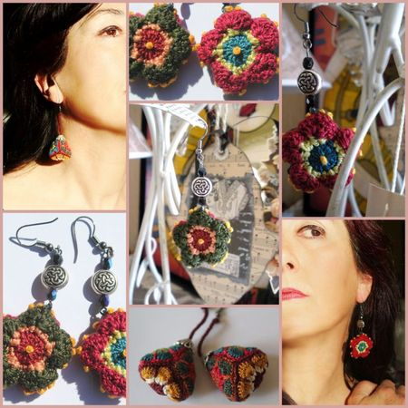 Boucles d'oreille crochet flowers