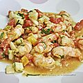 Salade de crevettes marinées aux épices ****