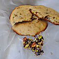 Cookies aux éclat de pistaches caramélisées et pépites de chocolat