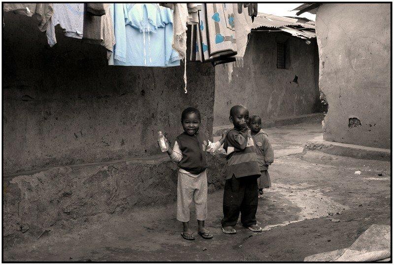 Enfants du bidonville