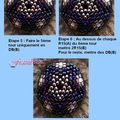 Tuto motifs petites fleurs pour beaded bead 16 mm