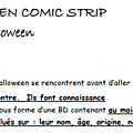 Halloween comic strips