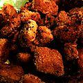 Worship seitan (nuggets de seitan) une des seules recettes où j'utilise beaucoup d'ingrédients chiants.