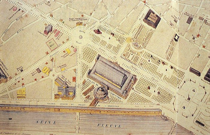 Exposition universelle 1855 plan