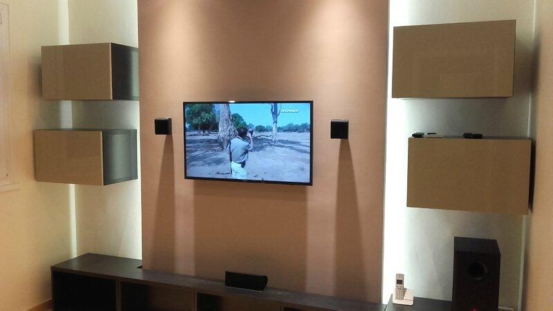 Relooking Cinema Bureau Meuble Tv Placo Bricolage Les Idées