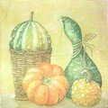 serviette courge