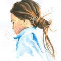 n°37 - ado cheveux noués, de profil