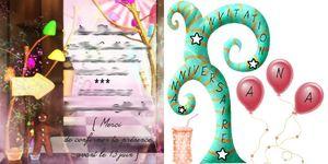 invitation Ana 7 ans pour blog