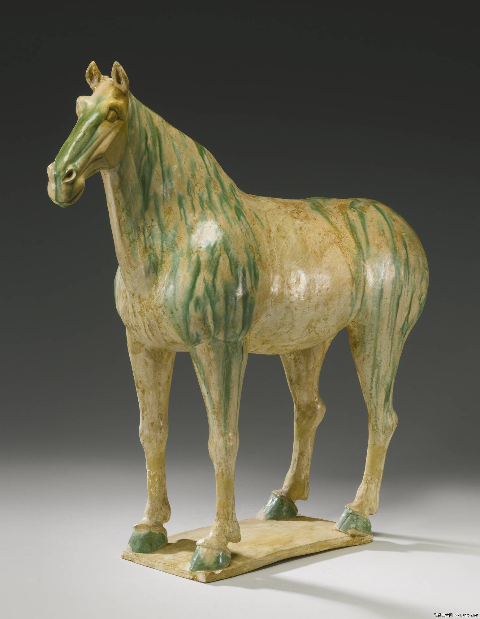 A 'sancai'-glazed pottery figure of a horse, Tang dynasty