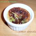 Moelleux pistache au coeur fondant de chocolat