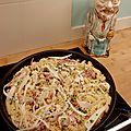 Pates au bacon & aux panais