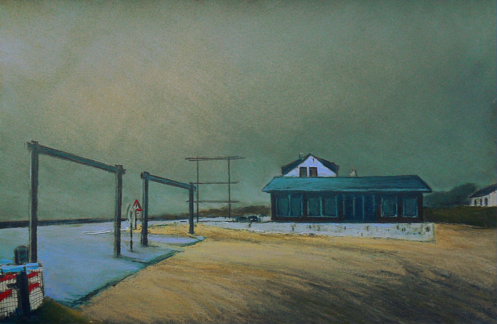 K'nowhere #24, 2014, pastel à l'huile. 48 x 32 cm.