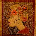 Lady flore, PEREZ Gisèle, mosaïque