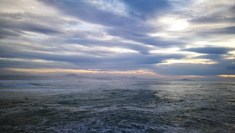 Anglet, La Barre, océan et Rhune, février 19