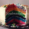 Gâteau arc-en-ciel par Fabrice