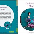 conte kimono bleu