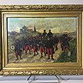 Bligny, le départ de la troupe , guerre de 1870