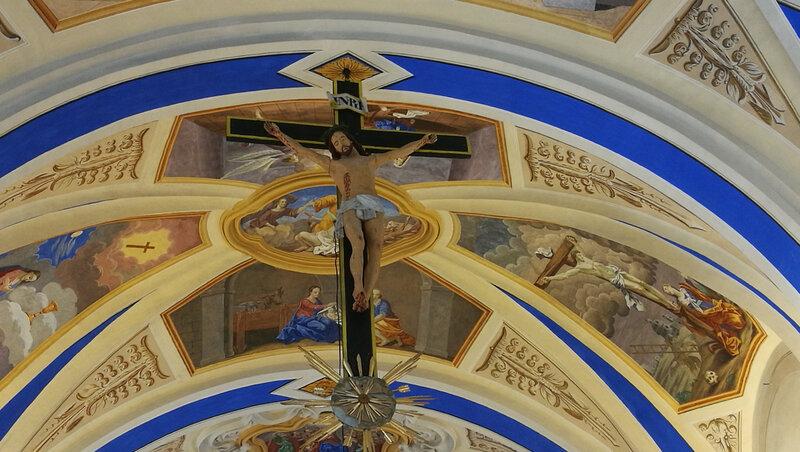 Saint-Nicolas-de-Véroce, église, intérieur, le christ (74)