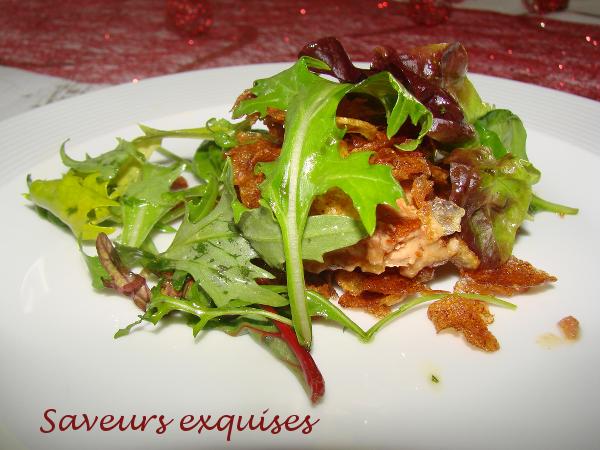 Mille feuille de foie gras aux pommes de terre
