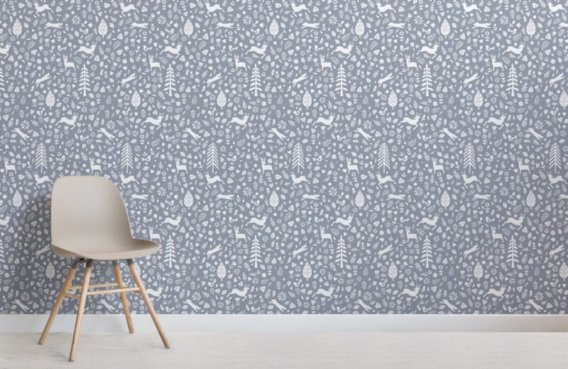 Blue-Festive-Pattern-Scandinavian-Folk-Art-Wallpaper-Mural-Room-820x532