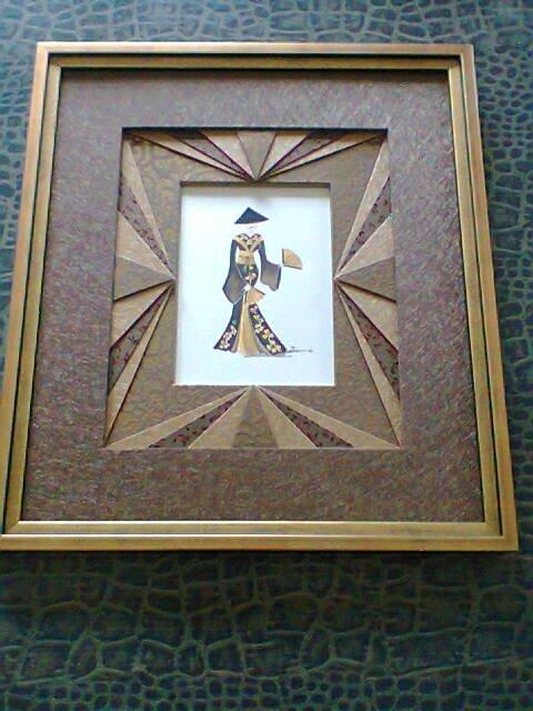 Geisha marron et or