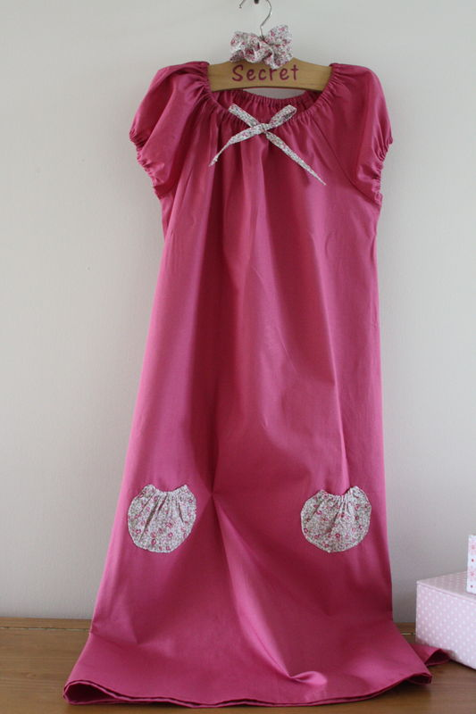 tunique en popeline rose