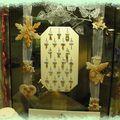 Décoration de la vitrine de noël de la bijouterie julien d'orcel à cherbourg