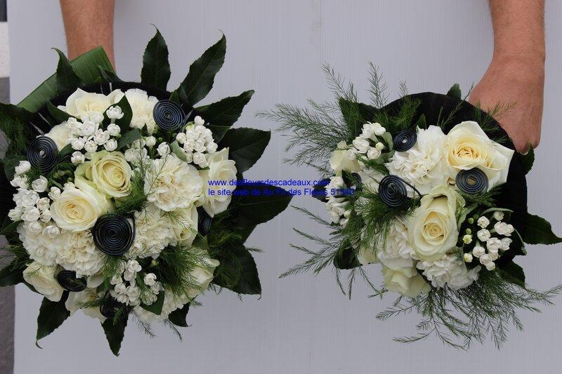 bouquet de mariée fleurs blanches et noires (35)