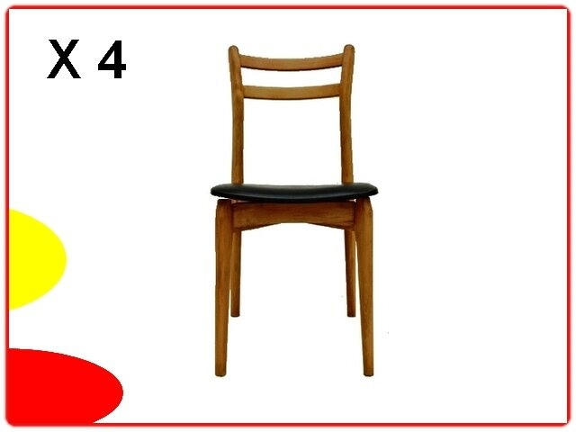 Chaises scandinaves 1960