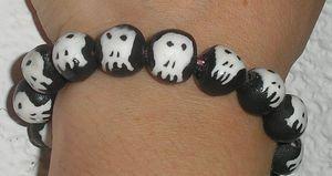 bracelet téte de mort