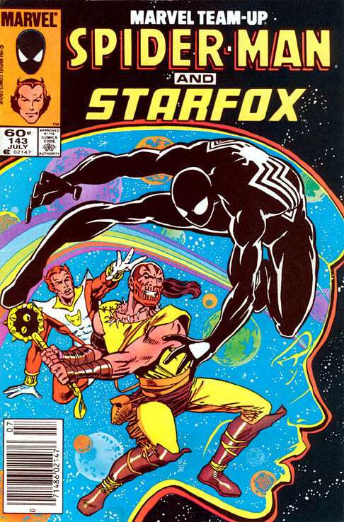 marvel team-up 1972 143 spiderman & starfox
