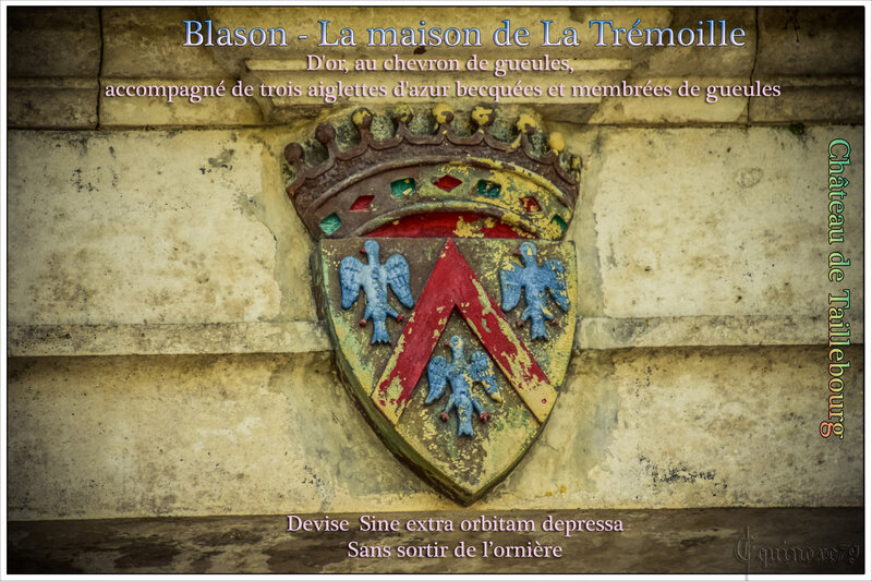 Blason de la Tremouille Château Taillebourg