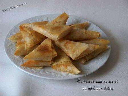 Samossas aux poires et au miel aux épices 1
