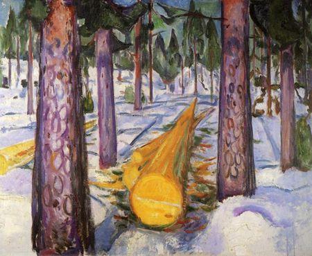 munch_edvard_Le_Tronc_jaune_1911_1912