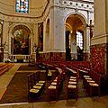 Sous la nef de Saint-Roch.