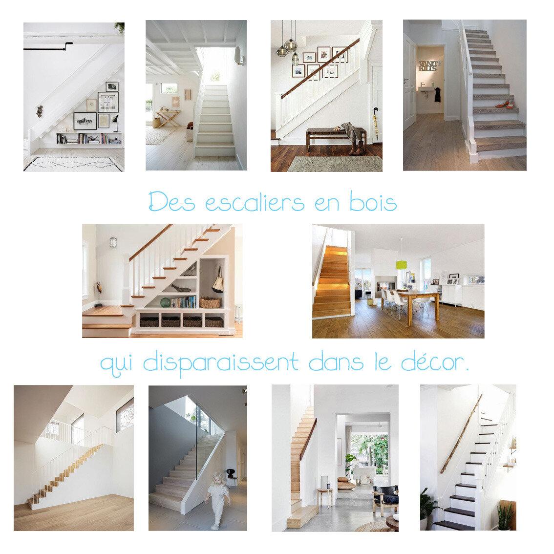 Des escaliers en bois qui se fondent dans le décor...
