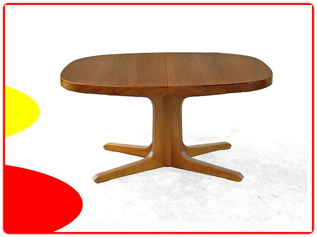 table danoise 1960 teck pied central vintage