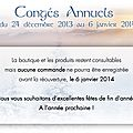 Congés annuels / annual vacation