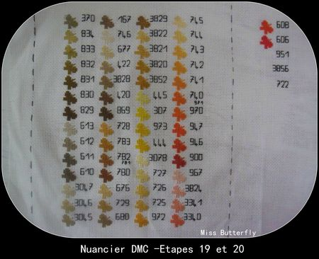 Nuancier DMC -Etapes 19 et 20 -Miss Butterfly 002