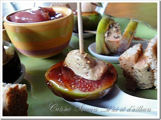 cuillères figue foie gras