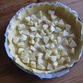*** tarte aux pommes façon flan ***