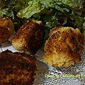 Croquettes pommes de terre jambon fromage