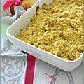 Crumble de fruits doré au curcuma