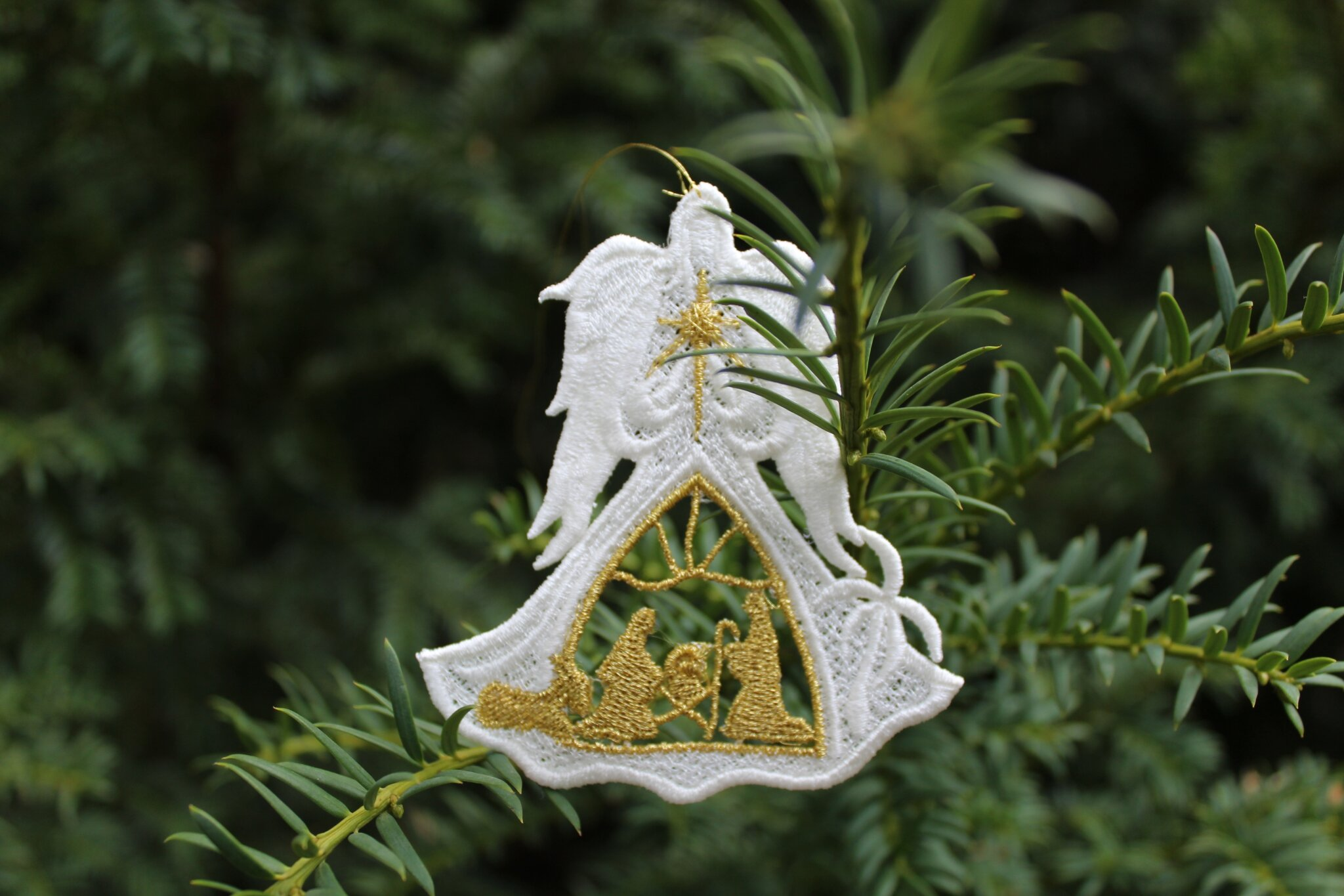 ANGEL4 Ange blanc decoration sapin dentelle amd a coudre (5)