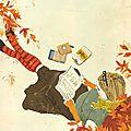 Le premier jour de l'automne - lisez sous un arbre en automne