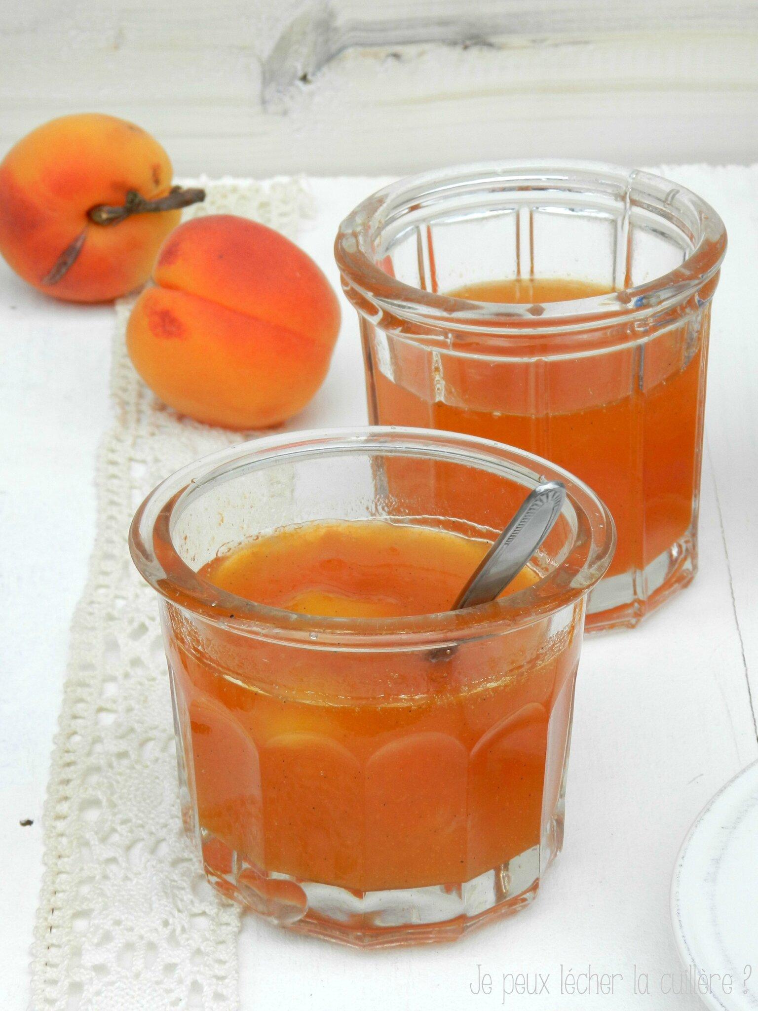 confiture nectarine peche